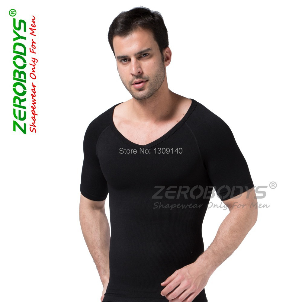 fefd6ec4866b9 ZEROBODYS Mens Slimming Body Shaper Hot Shapers for Men Shaped fitness  shirt clothes ropa casual hombre shirt B349-in Shapers from Underwear    Sleepwears on ...