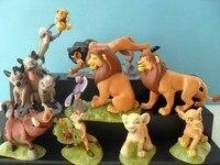 Clássico anime dos desenhos animados 9 pçs/set o rei leão Xinba modelo mão figura de ação brinquedos para crianças animais de pelúcia Simba presente