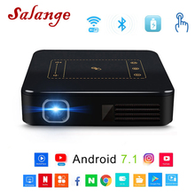 Salange P9 Android 7.1 Pocket Projector With Touch Pad WIFI Bluetooth Mini Beamer 8000mAh Battery Projetor Home Theater