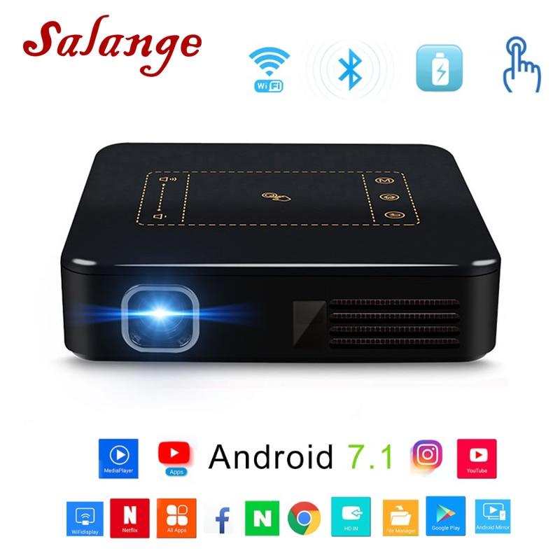 Salange P9 Android 7,1 карманный проектор с сенсорной панелью Wi Fi Bluetooth мини 8000 мАч батарея Projetor дома ТЕАТР