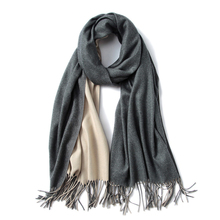 Winter Scarf for women Two-sided   Pure color Cotton and Viscose Fibers Blend Winter outdoor cold proof Scarf Imitation cashmere dresses visavis dr6456 women winter viscose tmallfs page 8
