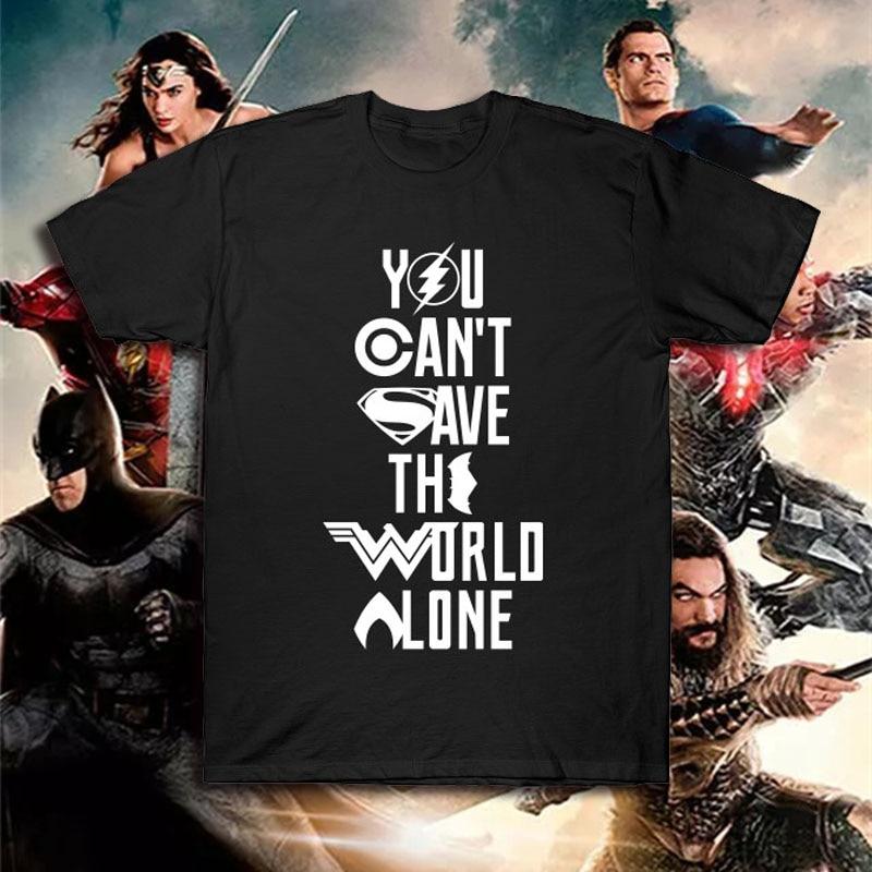 DC Justice League Superhero T Shirt Batman Super Man T-shirt Summer Cotton Tee Top Flash Aquaman Zack Snyder Wonder Woman Tshirt