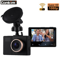 Conkim New Mini DVR Dash Cam G70+ 1080P Full HD Wifi Camera Car DVR Novatek Chips 140 Degree Wide Angle Auto Video Recorder