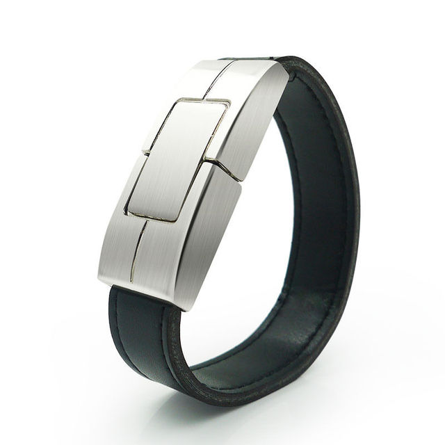 free shipping cheapest factory price leather usb watch 8gb black bracelet usb