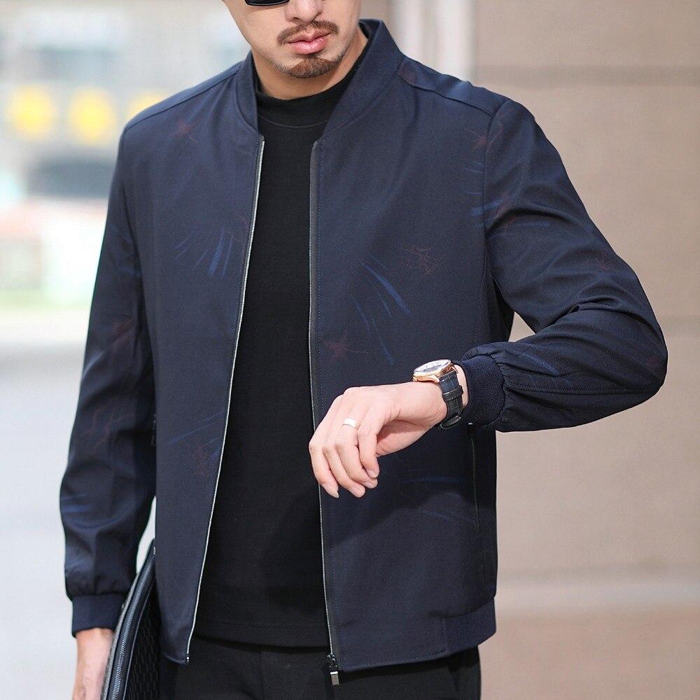 JZ chef Baseball veste pour hommes Sportwear imprimer col montant Zip manteau homme Slim décontracté affaires veste pardessus vêtements de bureau