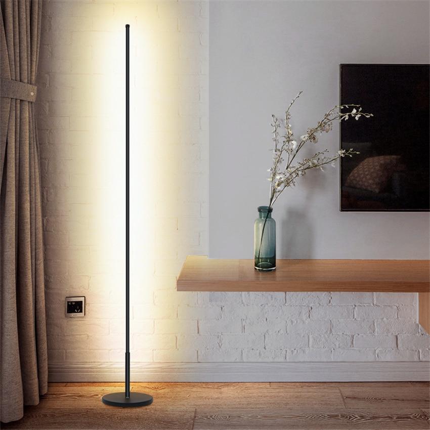 Lampes de sol LED nordique lampes sur pied LED modernes LED de salon lampes sur pied Luminaria en aluminium noir/blancLampes de sol LED nordique lampes sur pied LED modernes LED de salon lampes sur pied Luminaria en aluminium noir/blanc