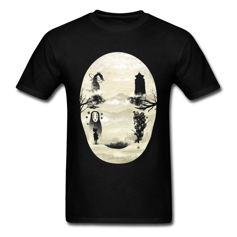 No Face T Shirt Anime Cotton Short Sleeve Custom Men T Shirt Hiphop Vintage Big Size Funny T-Shirts Faceless Spirit Tshirt Mens