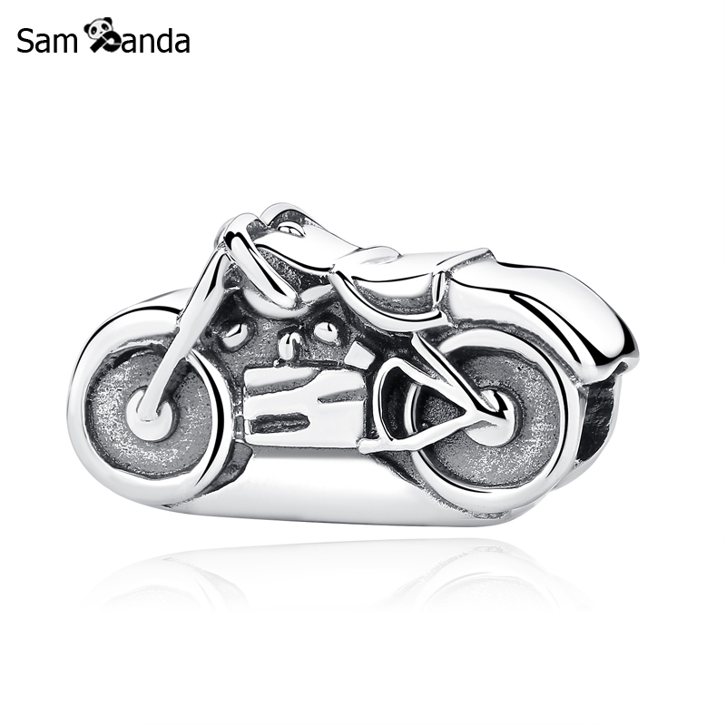все цены на New Authentic 925 Sterling Silver Charm Bead Motorbike Motorcycle Charms Fit Pandora Bracelets & Bangles Women DIY Jewelry онлайн