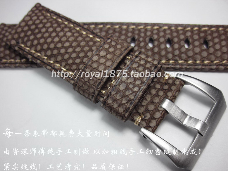 2018 nouveau design gommage lézard peau 24mm main lézard bracelet en cuir personnalisé sport table d'escalade faire l'ancien style pour pam111-in Bracelets from Montres    1