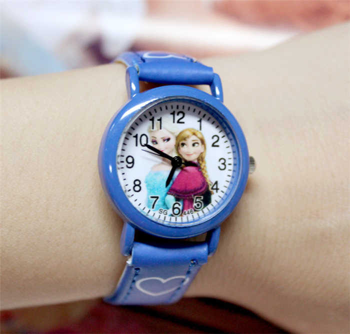 Hot Children Sports Watch Cartoon Pattern Faux Leather Quartz Wrist Watches Gift Watch 2U