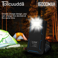 Tollcuudda Solar Power Bank Dual Usb Travel Powerbank 16000mah External Battery Portable Charger Bateria Externa Pack