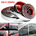 Free Shipping 5MX20MM Auto Car Chrome Styling Accessories Decoration Trim Strip For Door Window Bumper Headlight Taillight