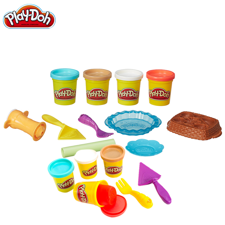 Original Play Doh Colorful Mud Fun Pie Children's Soft  Clay Playa Creative DIY Toys Set Slime Clear Fluffy