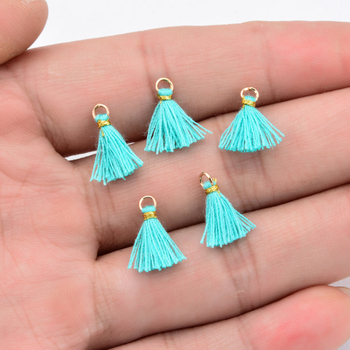 20pcs/Lot New Multicolor Handmade Tassel Charms For Jewelry Making 1CM Mini Cotton Necklace Earrings DIY Findings