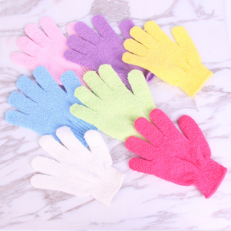 Skin Bath Shower Wash Cloth Shower Scrubber Back Scrub Exfoliating Body Massage Sponge Bath Gloves Moisturizing Spa Skin Cloth