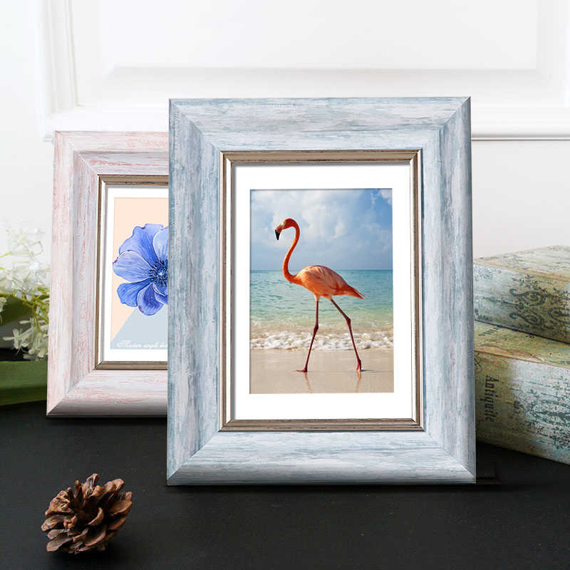 Aesthetic Photo Frame For Home Decor Quality Plastic Table/ Wall Hanging Picture Frames Vintage 4 Colors Party Casamento Desktop
