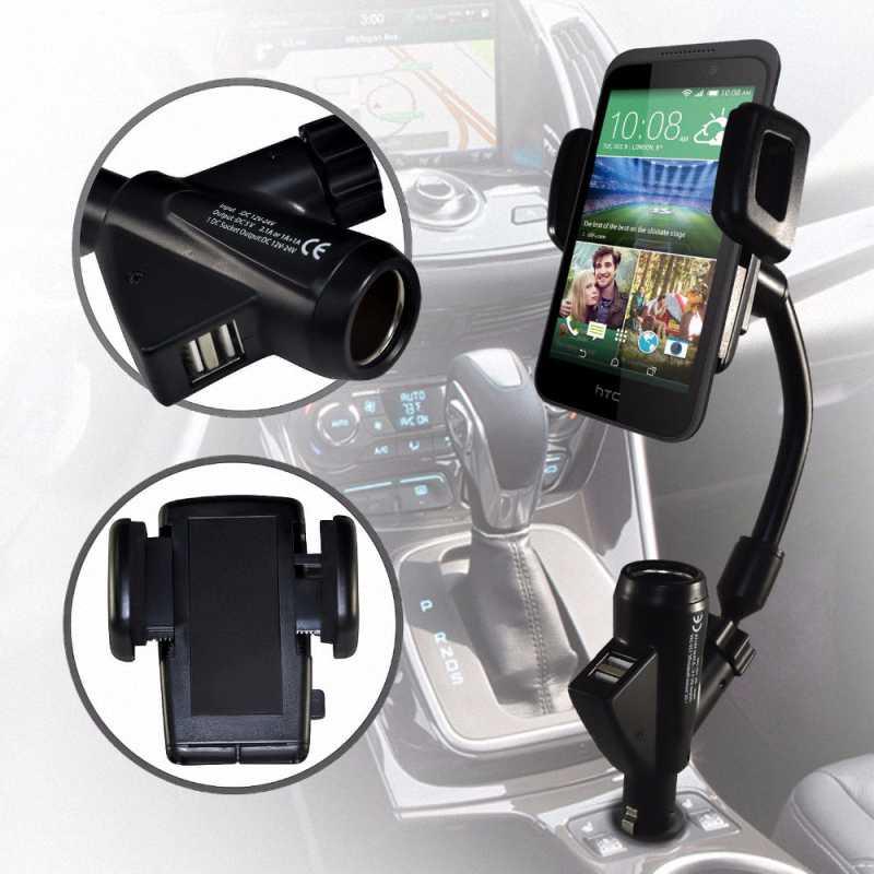 Универсальный прицеп Dual USB Автомобильное Зарядное устройство горе сотовый мобильный телефон держатель кронштейн Подставки для Iphone 5 6 7 Plus GPS