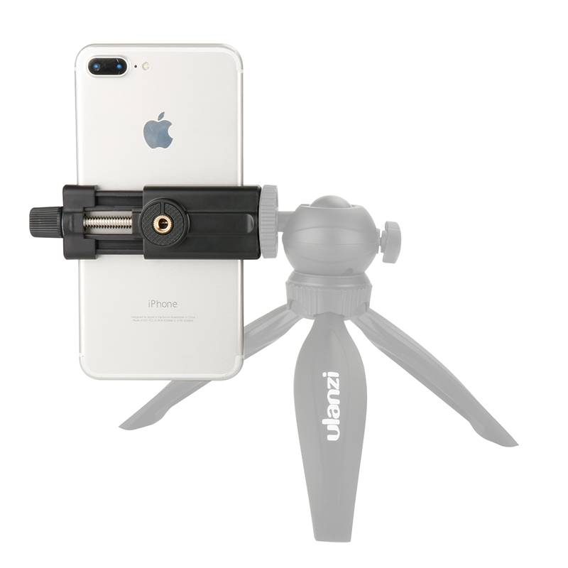 Ulanzi Phone Mount Tripod Adapter Universal Smart Phone Tripod Holder Stand for iPhone 6 6s 7 plus Huawei Vlogging Youtube universal cell phone holder mount bracket adapter clip for camera tripod telescope adapter model c