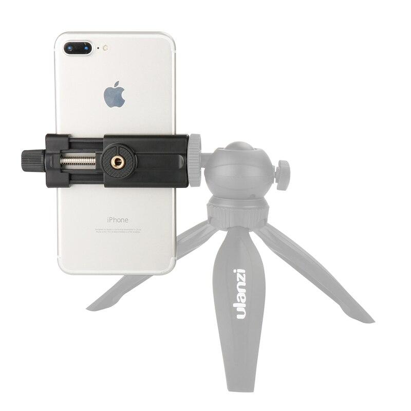 Ulanzi Telefone Adaptador de Montagem do Tripé Universal Tripé Telefone Inteligente Suporte Suporte para o iphone 6 6 s 7 plus Huawei Vlogging Youtube