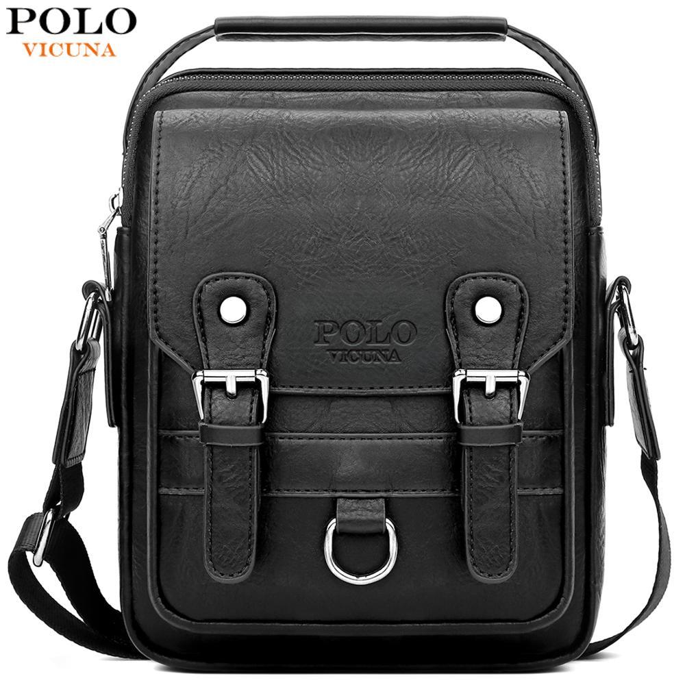 VICUNA POLO Bag Set Leather Man Messenger Bag With Wallet Casual Brand High Quality Crossbody Bag Business Men Shoulder Bag