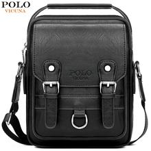 купить VICUNA POLO Bag Set Leather Man Messenger Bag With Wallet Casual Brand High Quality Crossbody Bag Business Men Shoulder Bag по цене 1049.91 рублей
