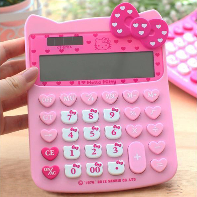 Best Price 2018 Hello Kitty New Brand Cute Office Electronic