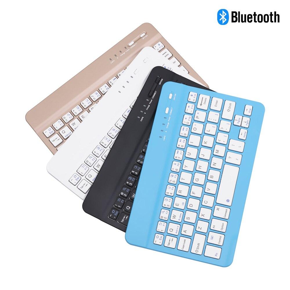 7.9 polegada ultra fino teclado sem fio bluetooth 59 teclas recarregável de alta qualidade portátil para ipad ios android windows pc