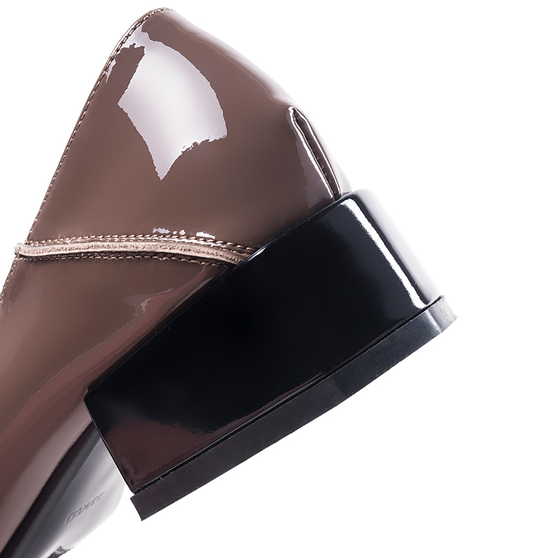 Fashion Patent Leather Square Heel Women Pumps Mule Universe Casual Round Toe Thick Heels Med Heels 3 5cm Women Shoes 2019 J026 in Women 39 s Pumps from Shoes