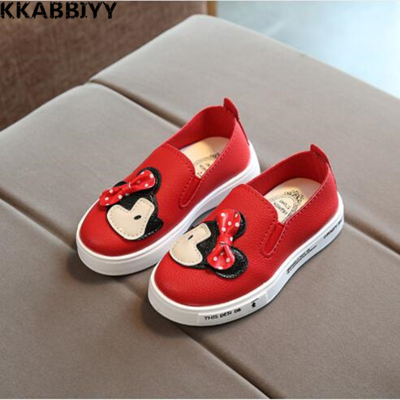 Children Sneakers Spring Autumn Kids School Shoes For Toddler Girls Flats Casual Tennis Breathable Leather Shoes