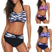 68a4f3630330eb D0124 2. US $16.99 US $10.53. 2019 Nieuwe vrouwen Bikini badmode hoge  taille Badpakken Badmode Push Up Set Plus Size ...