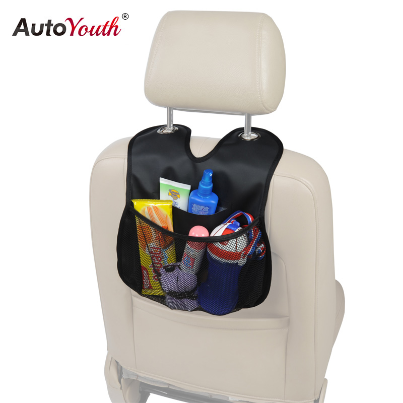 AUTOYOUTH Car Back Seat Organizer 2017 New Arrival PU Leather Multi-Pocket Seat Back Ipad Hanging Bag Storage Bags Car-styling cartoon bear sailboat car organizer seat back storage bag hanging holder multi pocket travel bags car styling for children kids