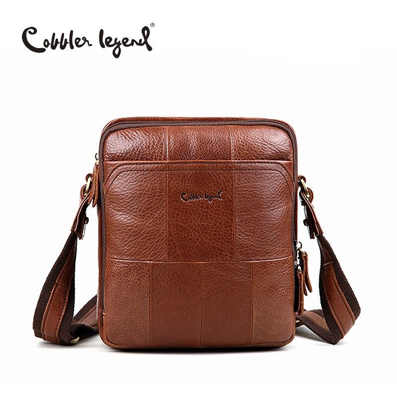 ФОТО Cobbler Legend Brand Men Shoulder Bag Casual Style Men Crossbody Bag Genuine Leather Famous Designer Handbag New Arrival