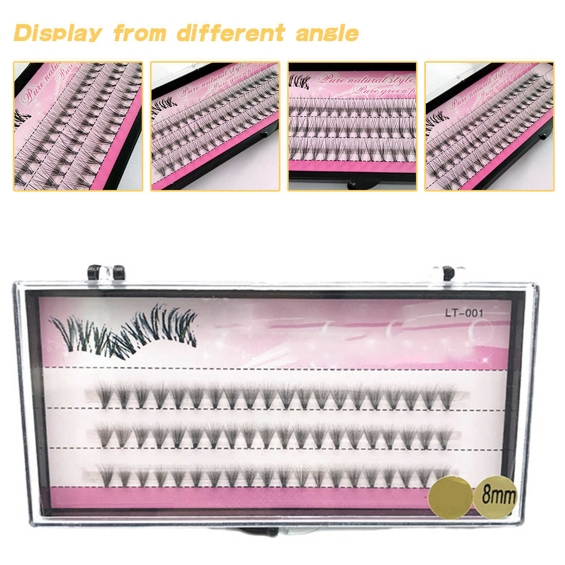 False Eyelashes Set 8/10/12mm 60 Bundles Individual Cluster Natural Long Fake Eye Lashes Big Eye Beauty Tips Makeup Essential