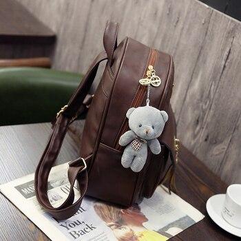 3 Pcs Bear Backpack Women Bag Diamond Lattice School Bags For Girls  Backpacks For Women 2018 New Tassel Shoulder Bags Sac A Dos - brandsfire d6f5ad0810ff6