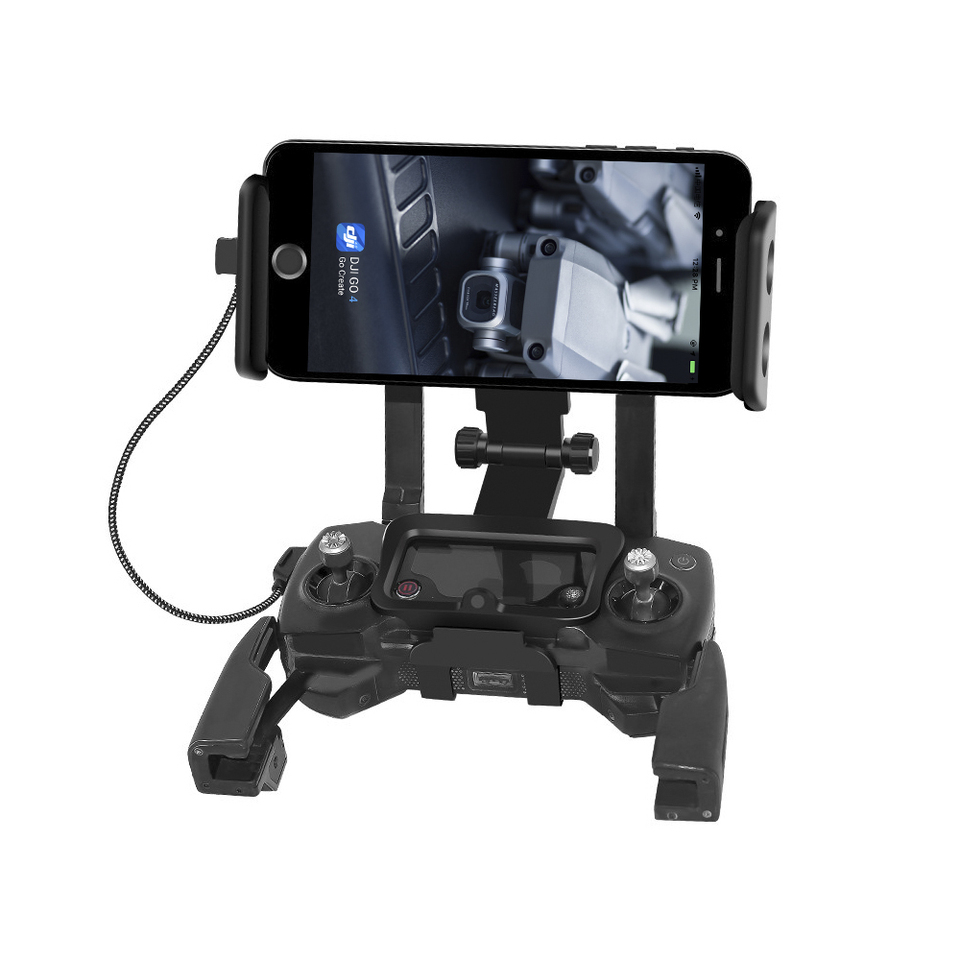 Remote Controller Tablet Holder Bracket Phone Mount Front View Clip For Dji Mavic Air Spark Drone Mavic Pro For Ipad Mini Drone Accessories Kits Aliexpress