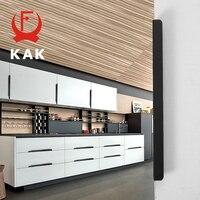 Kak 5pcs Lot Black Hidden Cabinet Handles Zinc Alloy Kitchen Cupboard Pulls Drawer Knobs Furniture Bedroom Door Handle Hardware