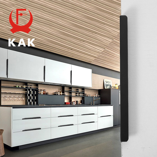 black kitchen cabinet pulls herringbone backsplash kak 5pcs lot hidden handles zinc alloy cupboard drawer knobs furniture bedroom door handle hardware