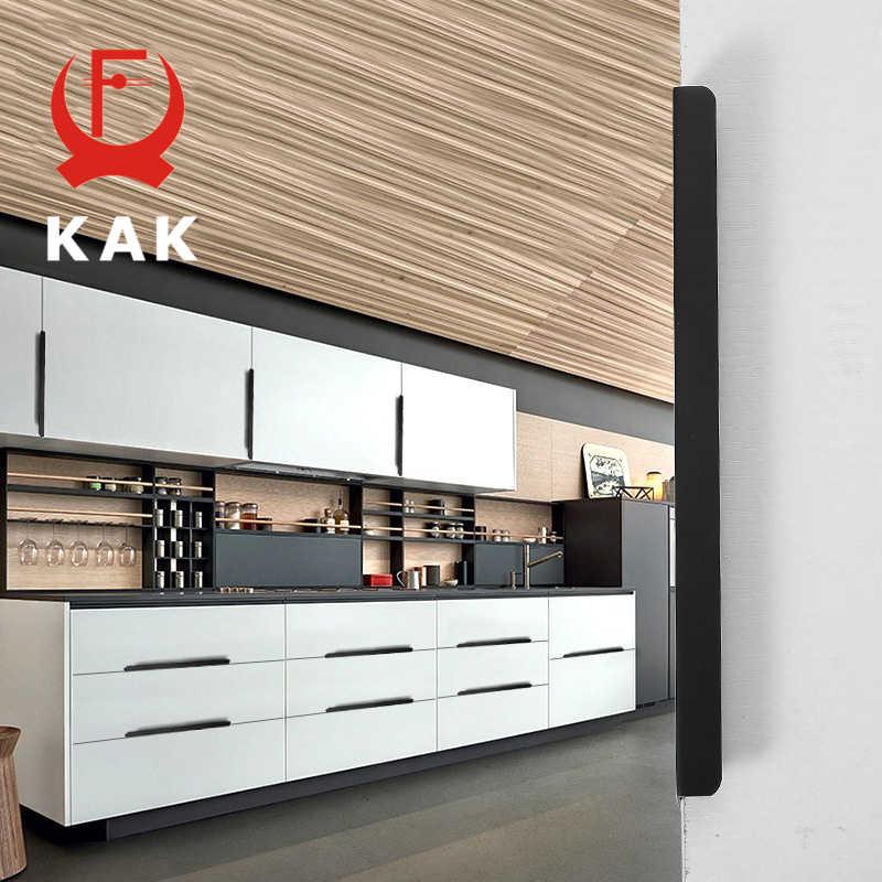 Drawer Knobs Kitchen Door Pulls Handle  Zinc alloy Matt Black Hardware