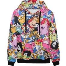 Harajuku 3D Print Adventure Time with Finn Jake Sweatshirts coat Fashion Long sleeve with hat Men Women Hooded Hoodies Tracksuit