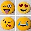 2016 de Alta Qualidade 4 estilos Bonito Emoji Emoticon Forma Travesseiro macio recheado de brinquedos de pelúcia Bonecas Almofada Travesseiro engraçado Divertido