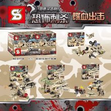 SY739 Falcon Commandos SWAT Specia Force Minifigures Building Block Bricks Toys Action Figure Kids Gift