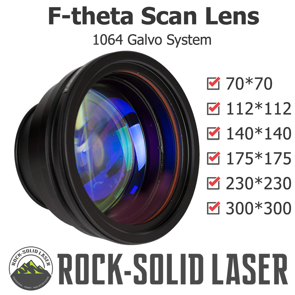 F-theta Scan Lens Optical Field Lens 1064nm EFL 100 163 210 254 330 420 Wavelength Fiber Laser Marker Parts Wholesale