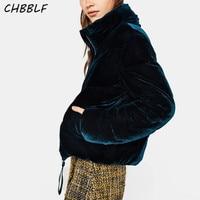 New Arrival Ladies cotton padded jacket fashion velour women coat parkas coat WDD8668