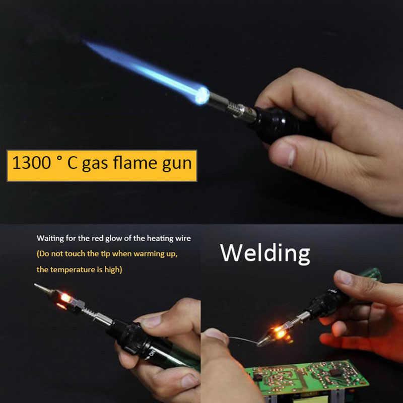 Gas Soldering Iron Cordless Welding Pen Burner Butane Blow Torch Solder Iron Hot Air Gun Hand Tools Gas Welding Solder Iron