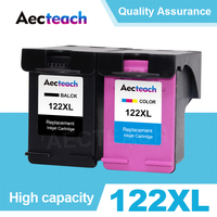 Aecteach Compatible 122XL Ink Cartridge Replacement For HP 122 For Deskjet 1000 1050 2000 3052A 3054 2050s 3000 3050A Printer