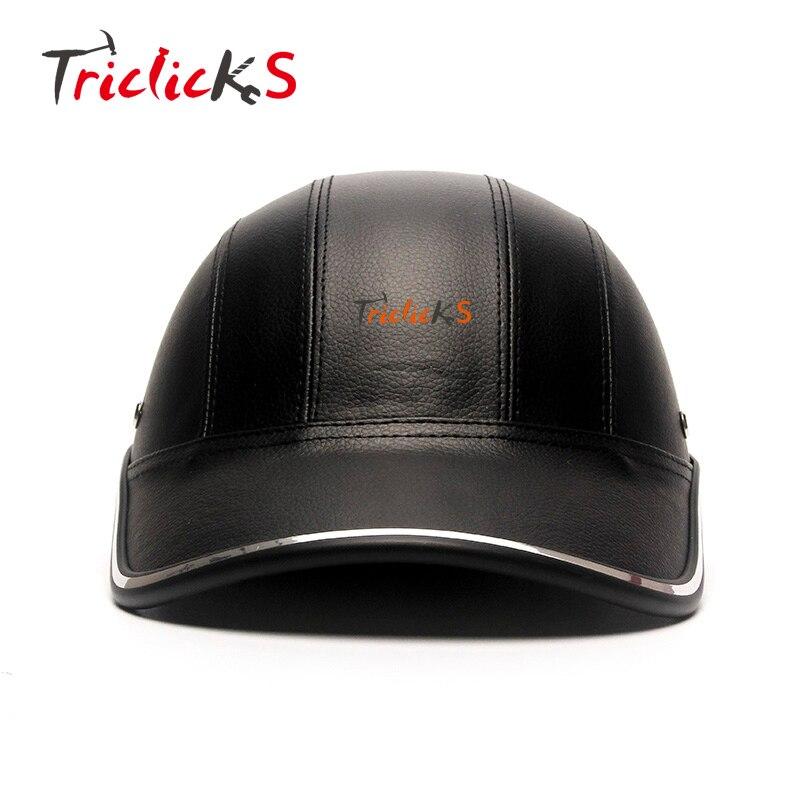 Trilicks moto Scooter medio casco gorra de béisbol estilo de seguridad duro Sombrero abierto cara hombre cascos protección media carcasa nuevo