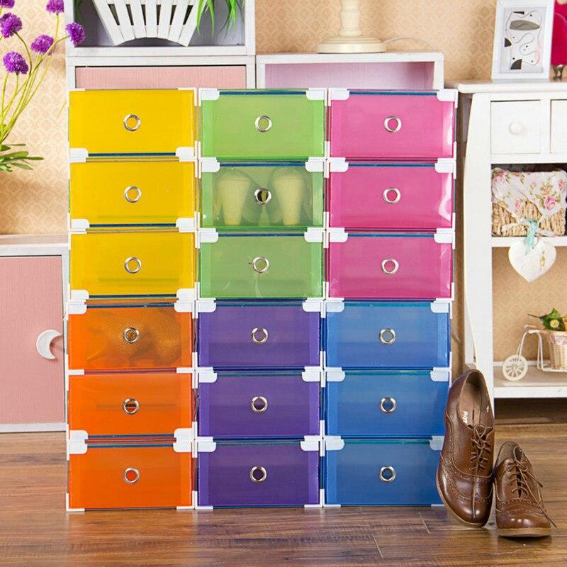 4 Stück Schuhschrank Storage Organizer Transparent Kunststoff - Home Storage und Organisation - Foto 2