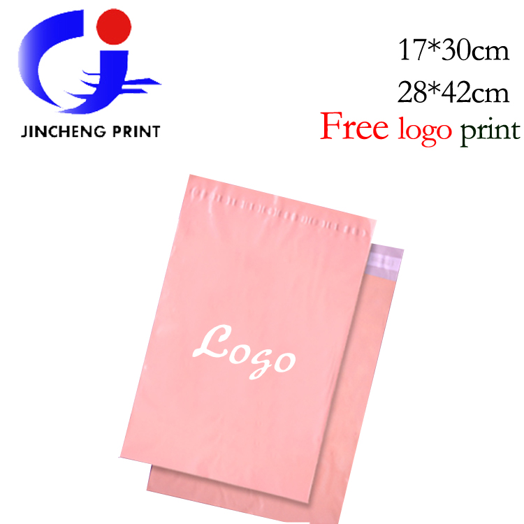 Free Shipping 11 X16 5 New Inch Pink Plastic Mailing Bags Custom Logo Print Envelope Mailers Poly Mailer Courier On Aliexpress Alibaba