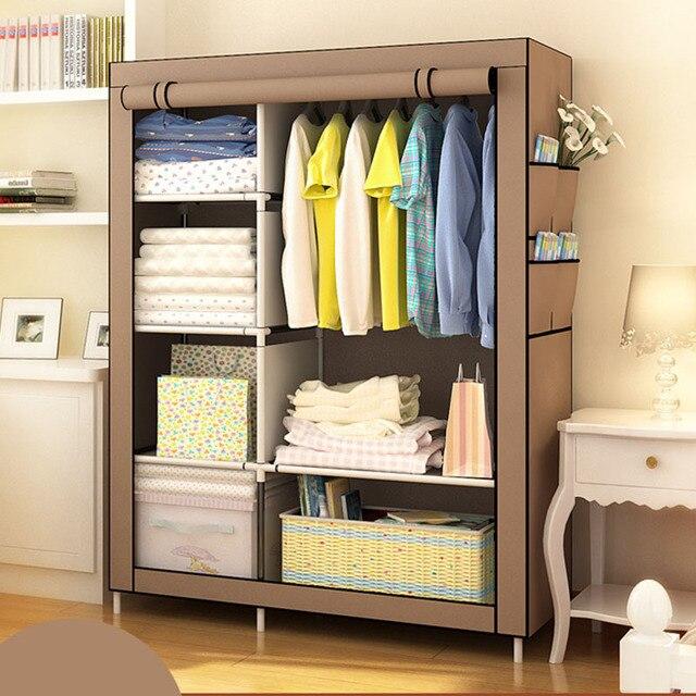When The Quarter DIY Wardrobe Non Woven Cloth Wardrobe Closet Folding  Portable Clothing Storage Cabinet