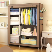 When the quarter DIY Wardrobe Non woven Cloth Wardrobe Closet Folding Portable Clothing Storage Cabinet Bedroom Furniture